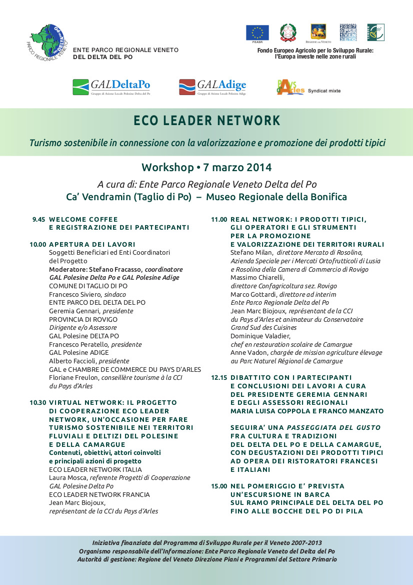 Programma ECO LEADER NETWORK 7 marzo